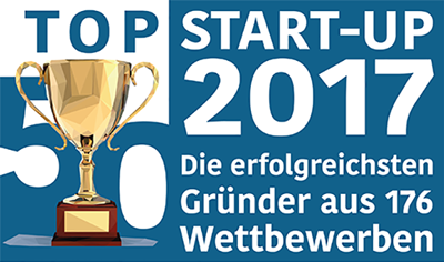 AUCTEQ ranked on place 32 of  the top 50 German startups
